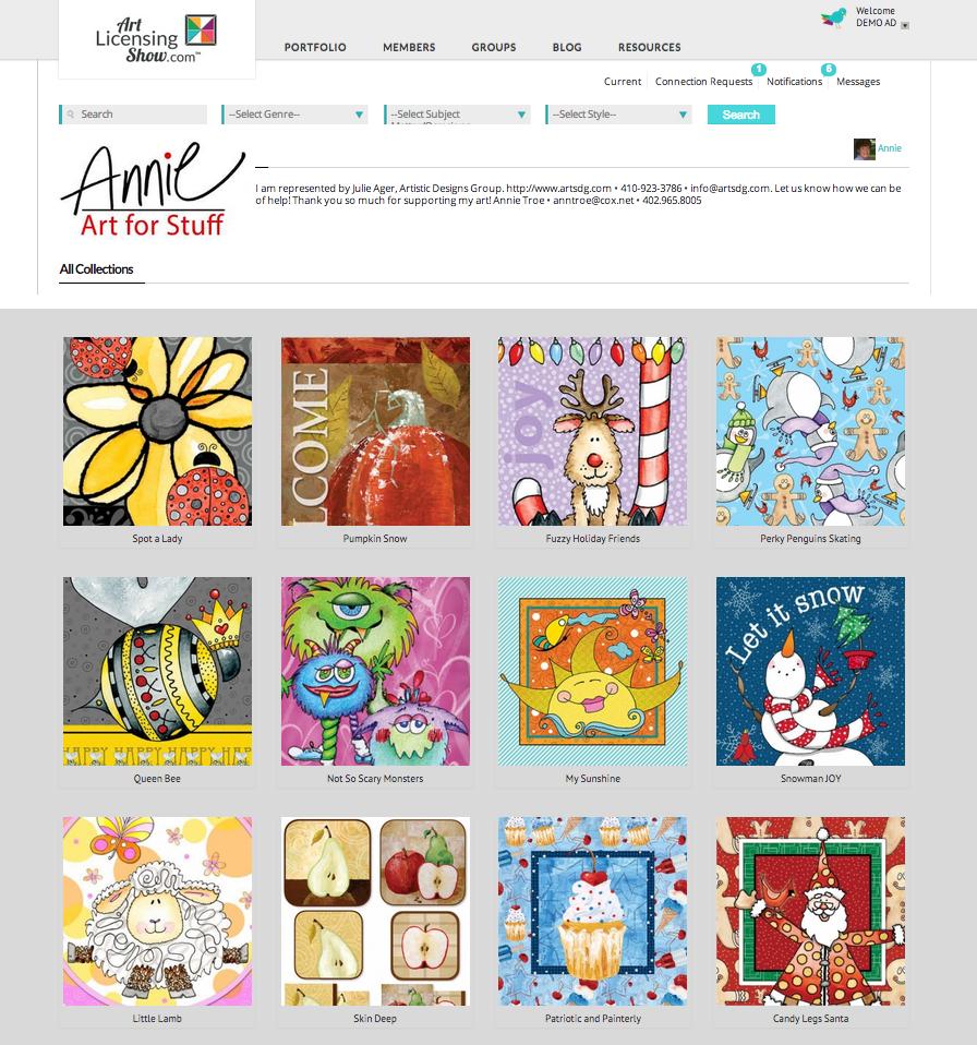Annie Troe Portfolio Page Overview Example