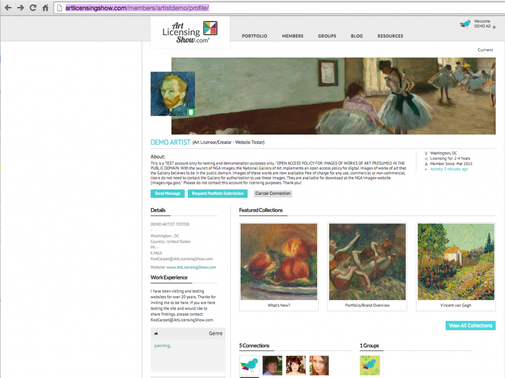 artists-profile-art-director-login