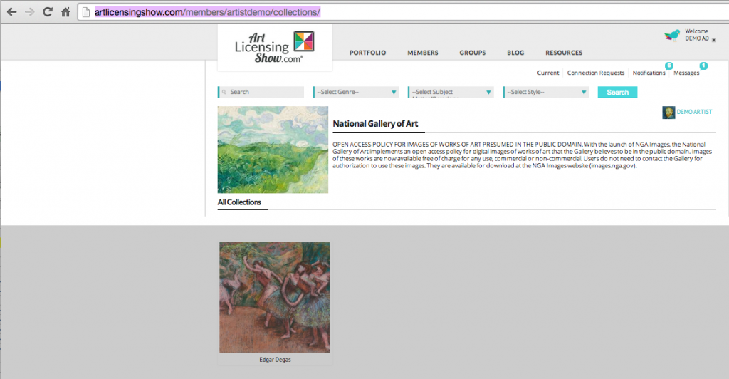 collections-art-director-login