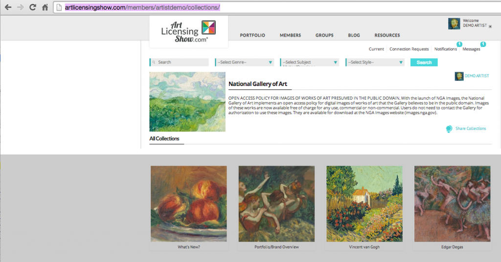 collections-page-from-artist-login