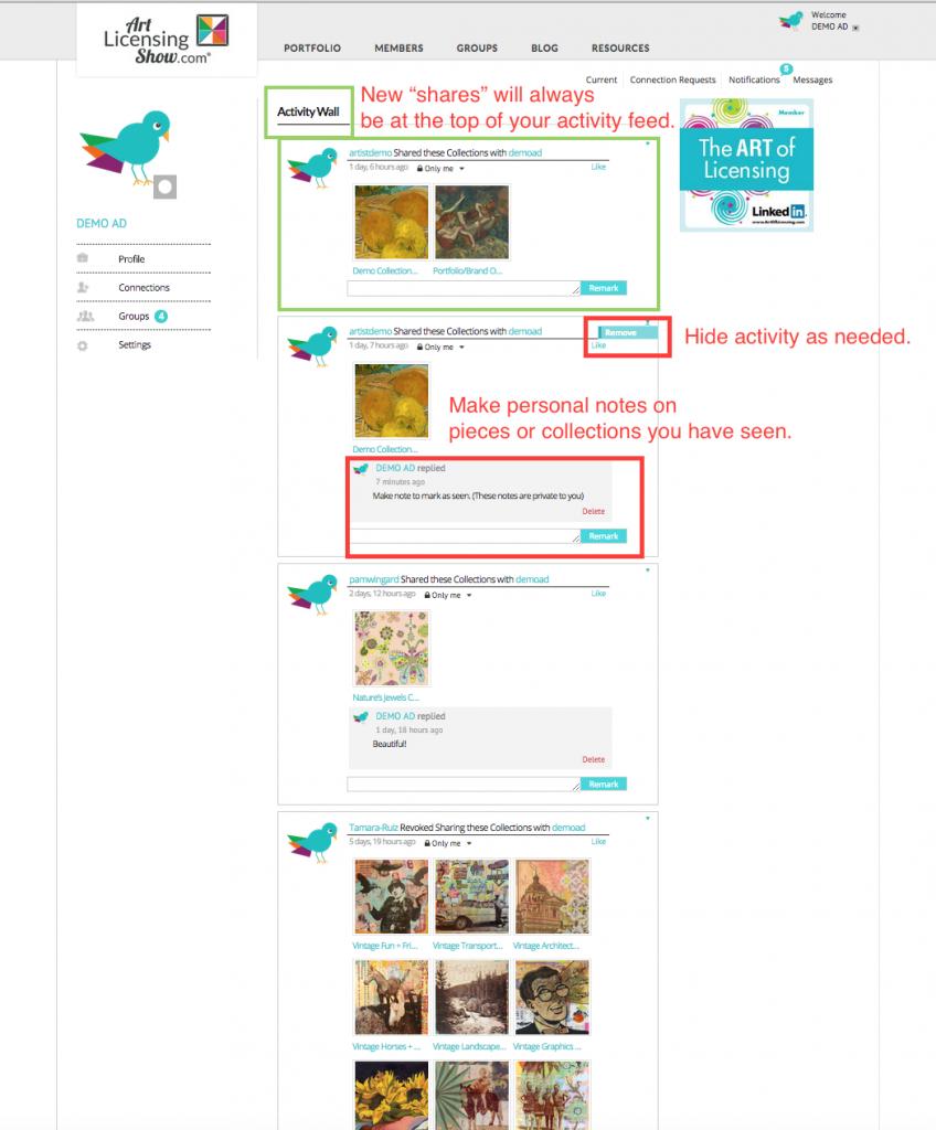 art director activity feed