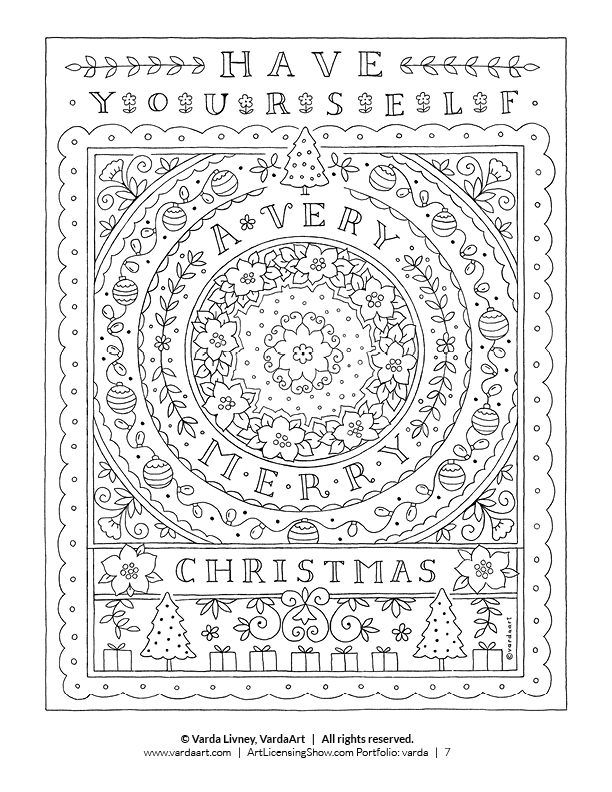 Free 92 Page Holiday Coloring Book ArtLicensingShowcom Your