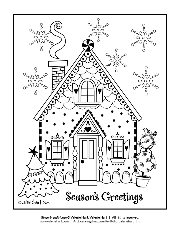 Free 92 Page Holiday Coloring Book Artlicensingshow Com