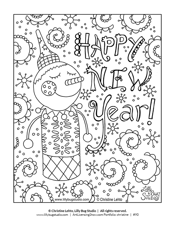 free 92 page holiday coloring book artlicensingshowcom your 247 virtual art licensing show